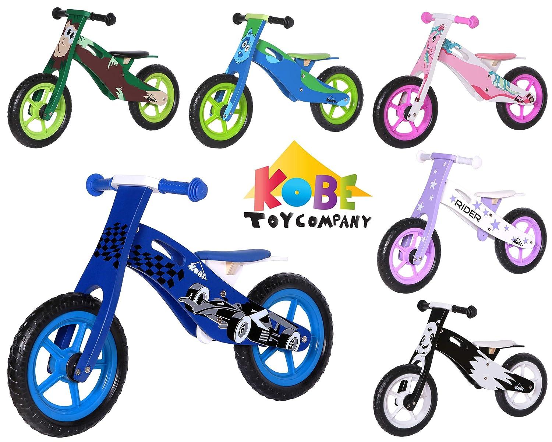 Kobe 木製バランスバイク 自転車 – B07226QMMN ブルーレースカー – 12インチ 12インチ 自転車 B07226QMMN, ヒララシ:1a6c894f --- hasznalttraktor.e-tarhely.info