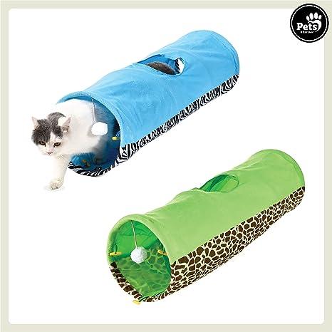 Pets & Partner® Gato túnel/parte túnel con gato juguete para gatos pequeños y