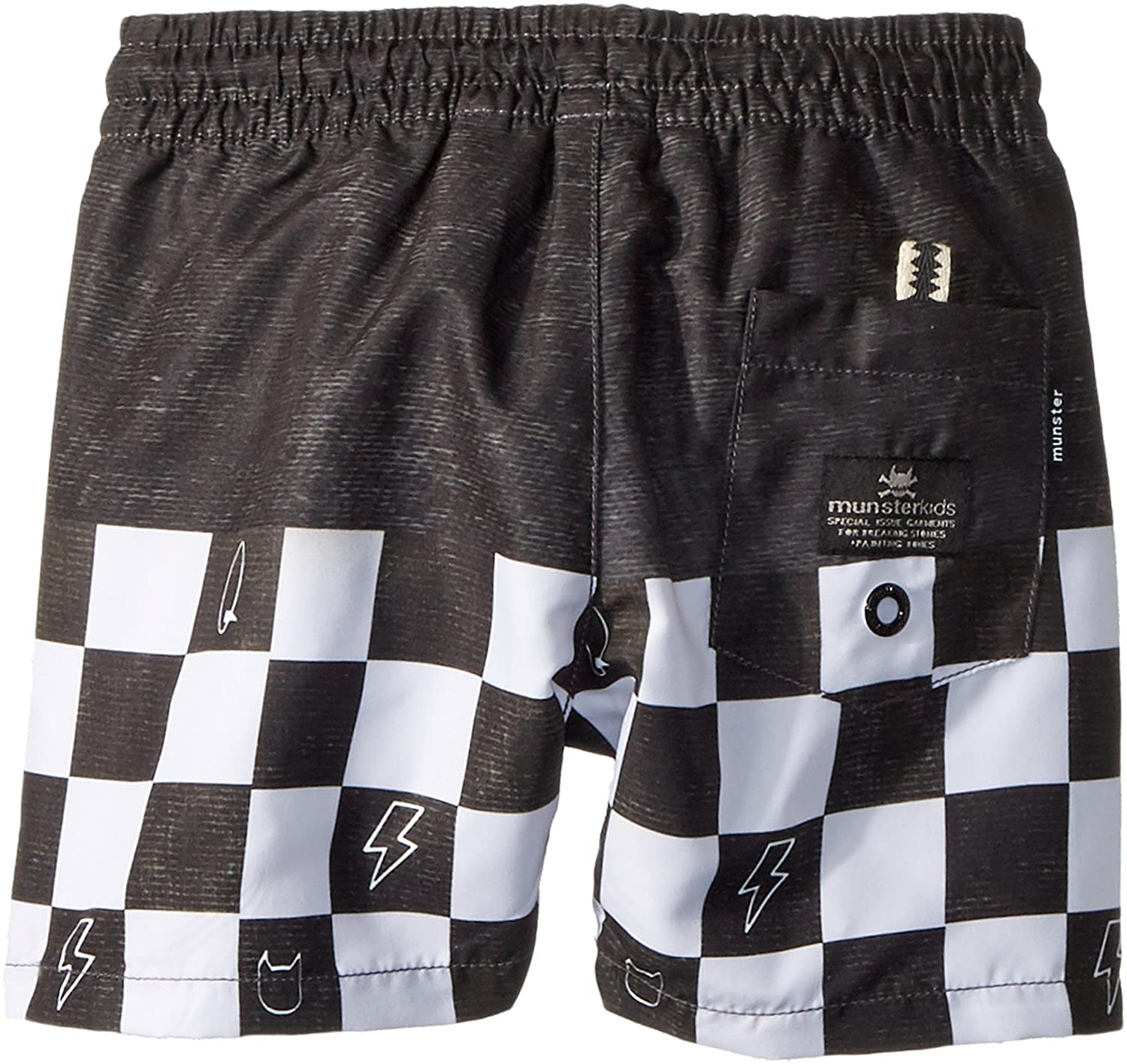 fbabb39f31 Amazon.com: Munster Kids Baby Boy's Wall Ride Shorts (Toddler/Little  Kids/Big Kids) Black Check 14: Clothing
