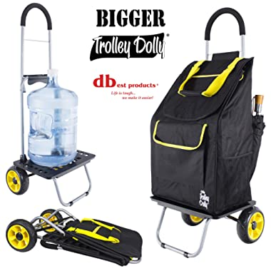 Bigger Trolley Dolly, Sunflower Shopping Grocery Foldable Cart