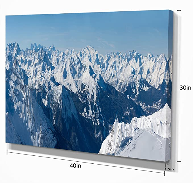 French Alps Panorama Photography Canvas Art Print Posters Prints