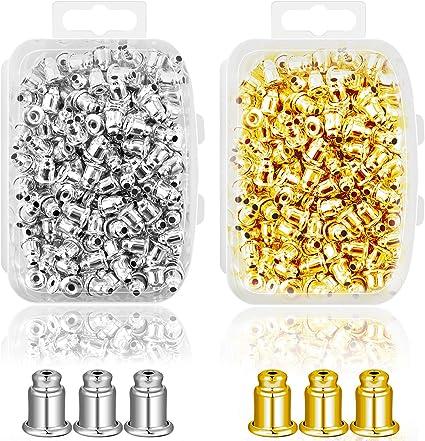 Metal Ear Nuts Bullet Safety Cluth Earring Stopper Replacements for Ear Hook Ear Post Studs Pierced Earrings. Ear Backs Supplies