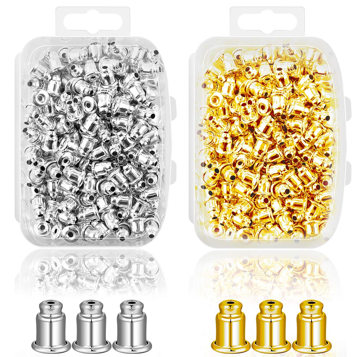 477e46522 Ear Backs Supplies - Metal Ear Nuts Bullet Safety Cluth Earring Stopper  Replacements for Ear Hook