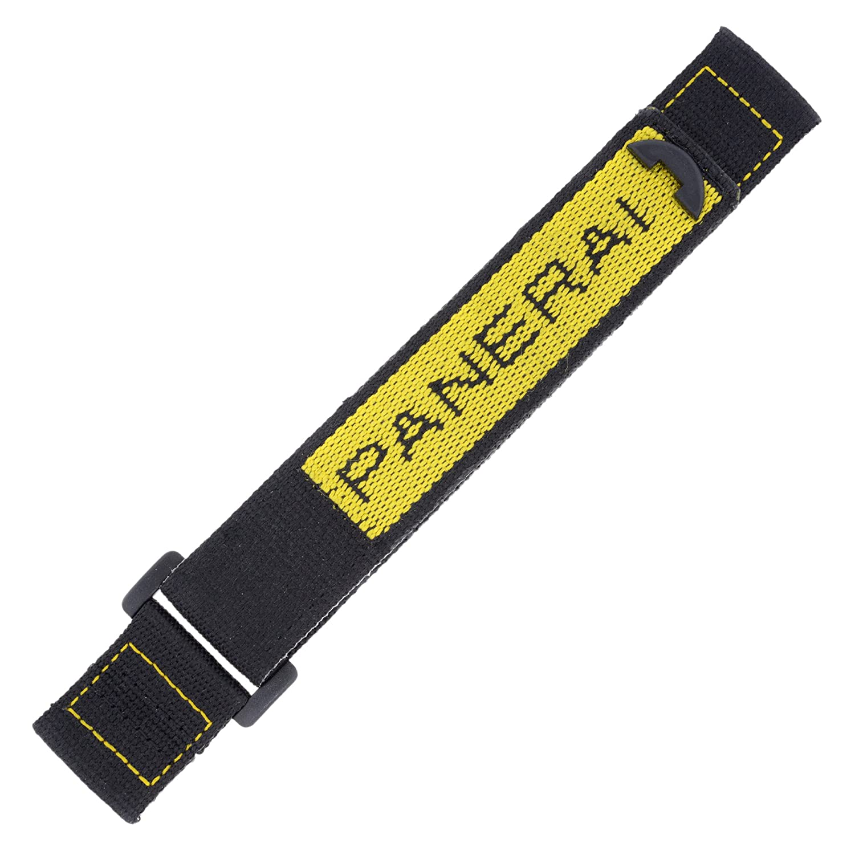 Officine Panerai 24 mm schwarz & gelb Klettverschluss Herren-Armbanduhr Band