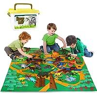 Vanplay Juego de Dinosaurios, Figura de Dinosaurio 52 Piezas Fiestas de cumpleaños Educativo Realista Juguetes Niños 3 4…