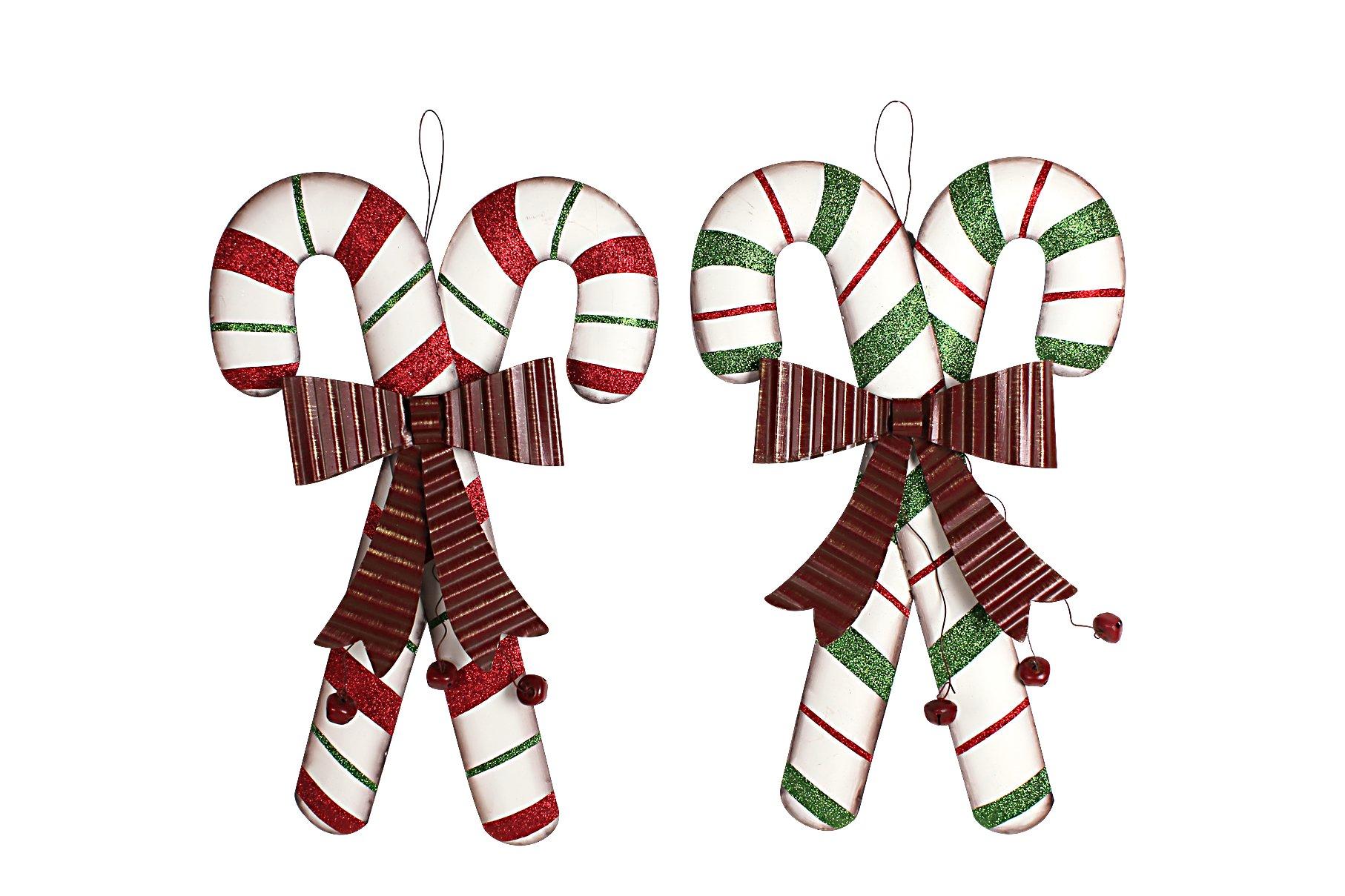 YK Decor Holiday Wonder Cane Wall Hanging Chrismast Gift