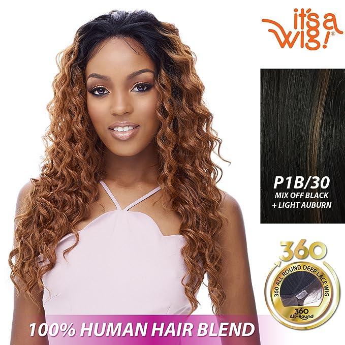 Amazon Com It S A Wig Soft 360 All Around Soft Lace Emotion P1b 30 Mix Off Black Light Auburn Beauty