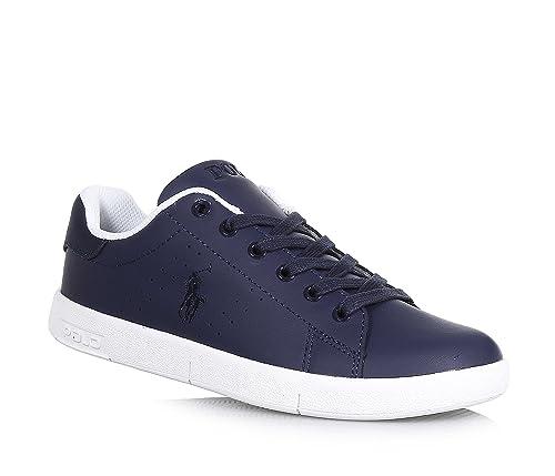 POLO RALPH LAUREN - Zapato de cordones azul de cuero, inserto ...