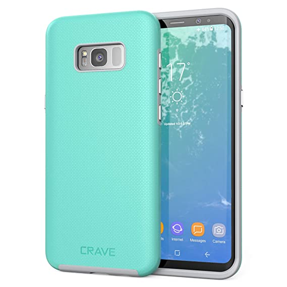 new style f5418 c71ec S8 Plus Case, Crave Dual Guard Protection Series Case for Samsung Galaxy S8  Plus - Mint Grey
