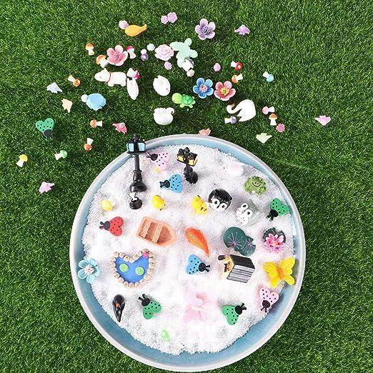 Vosarea Jardin - Miniaturas, diseño de Plantas artesanales de Espuma con Micro Paisaje, Estanque, 82 Unidades: Amazon.es: Hogar