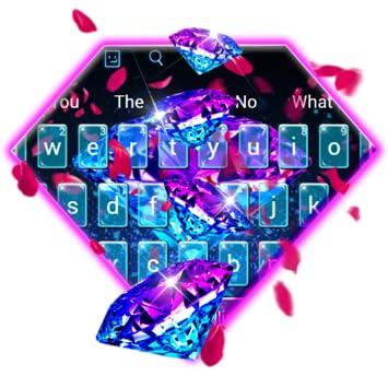 Amazon com: Glowing 3D Diamond Rose Petals Keyboard Theme