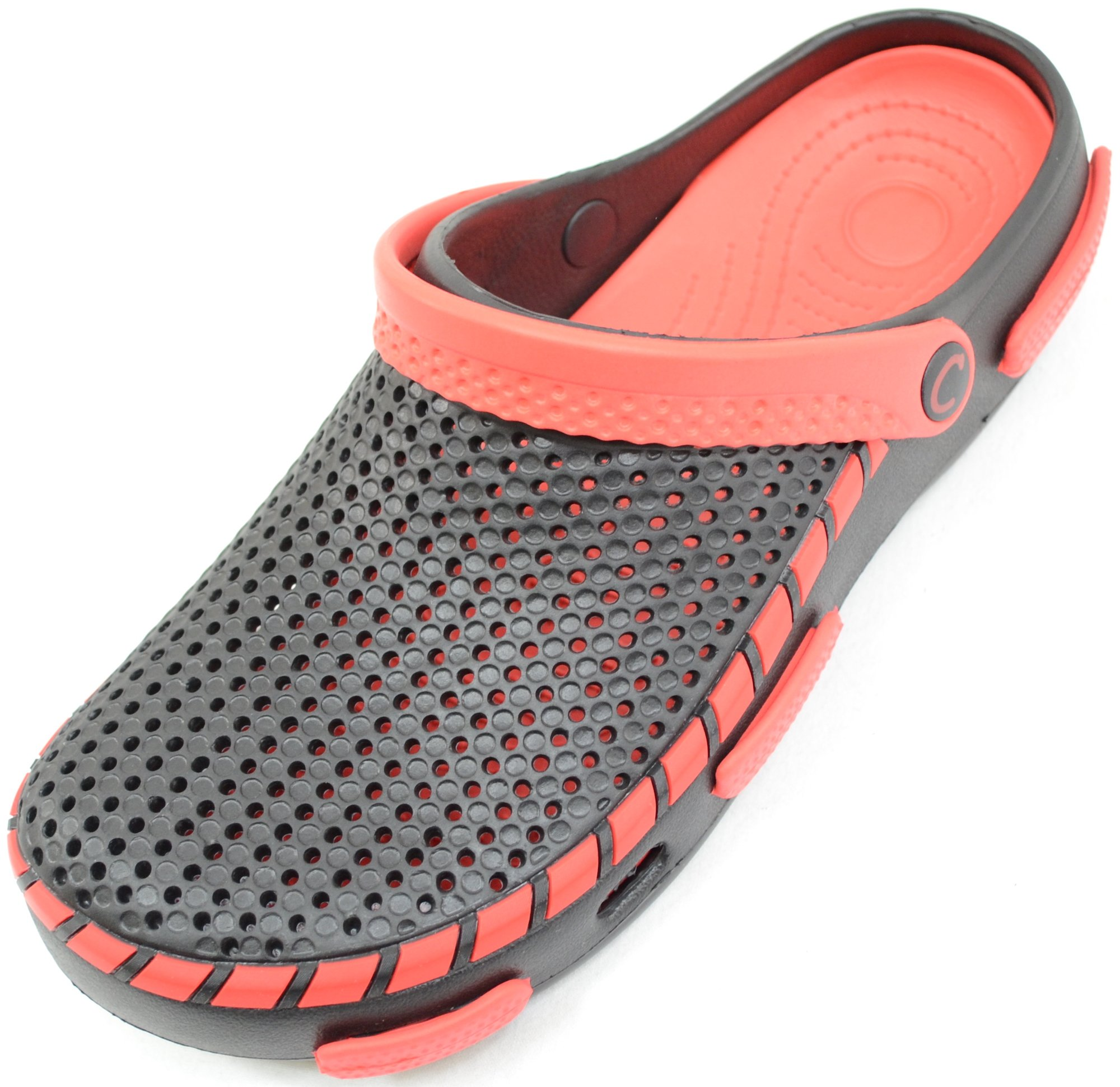 ABSOLUTE FOOTWEAR Mens Summer/Garden / Beach/Holiday / Hospital Clogs/Sandals - Black - 10 US