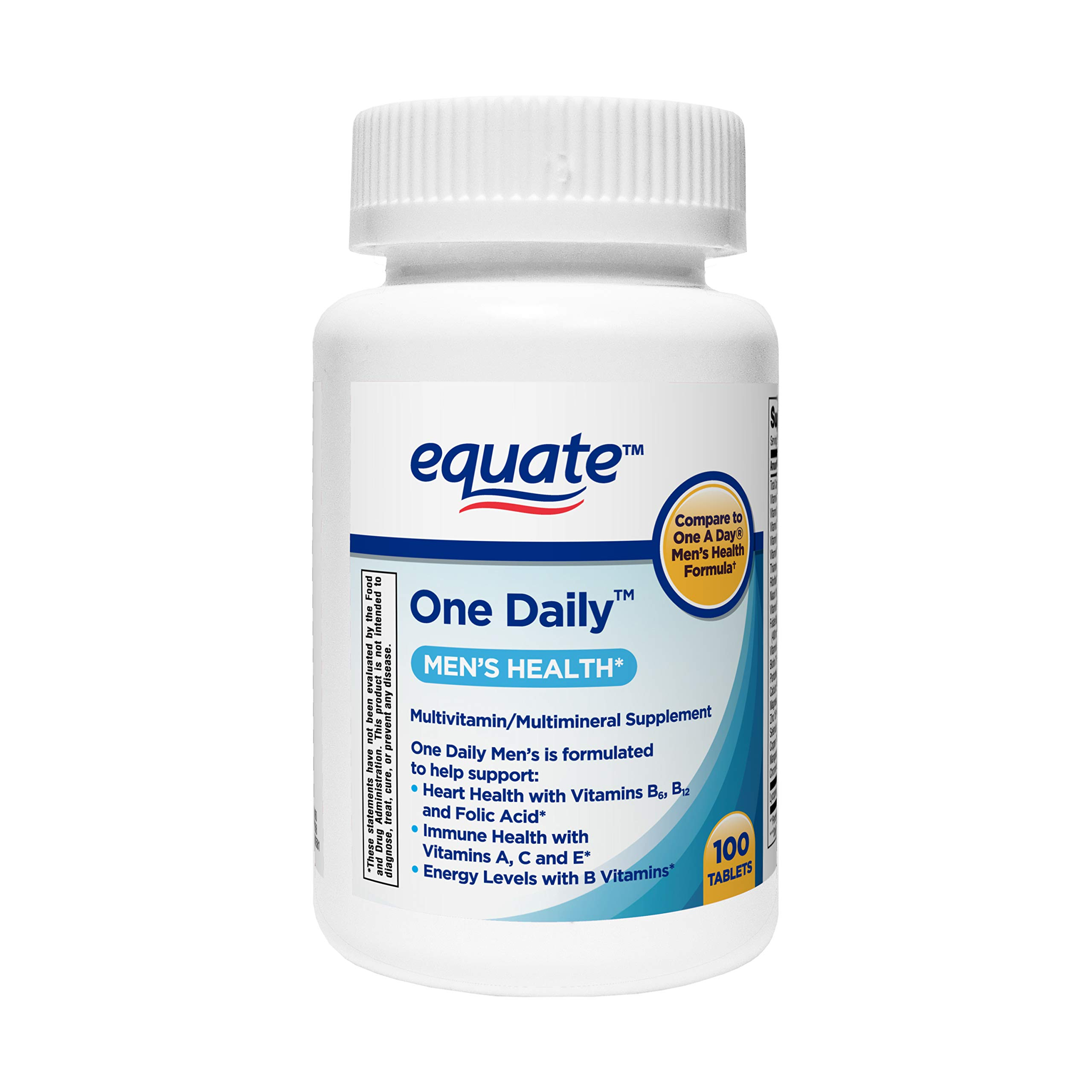 Equate - One Daily Multivitamin, Men's Health Formula, 100 Tablets