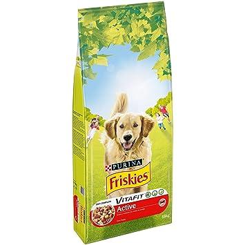 Purina Friskies Vitafit Active Pienso para Perro Adulto Buey 15 Kg: Amazon.es: Productos para mascotas