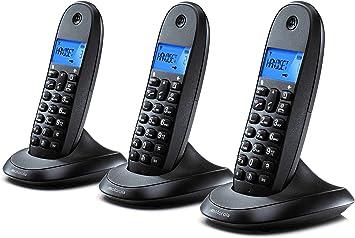 Motorola C1003LB+ Trio Teléfono Fijo DECT inalámbrico Trio ...