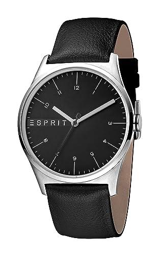 Esprit Reloj Analógico para Hombre de Cuarzo con Correa en Cuero ES1G034L0025: Amazon.es: Relojes