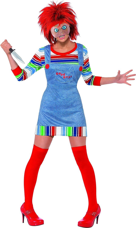 Chucky - Disfraz de chucky para mujer, talla L (39099L): Smiffys ...