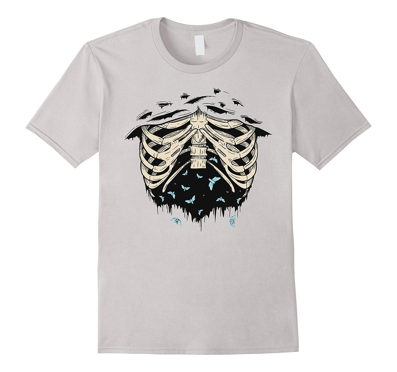 SKELETON SHIRT – Halloween Costume Rib cage Anatomy T-Shirt-T-Shirt ...