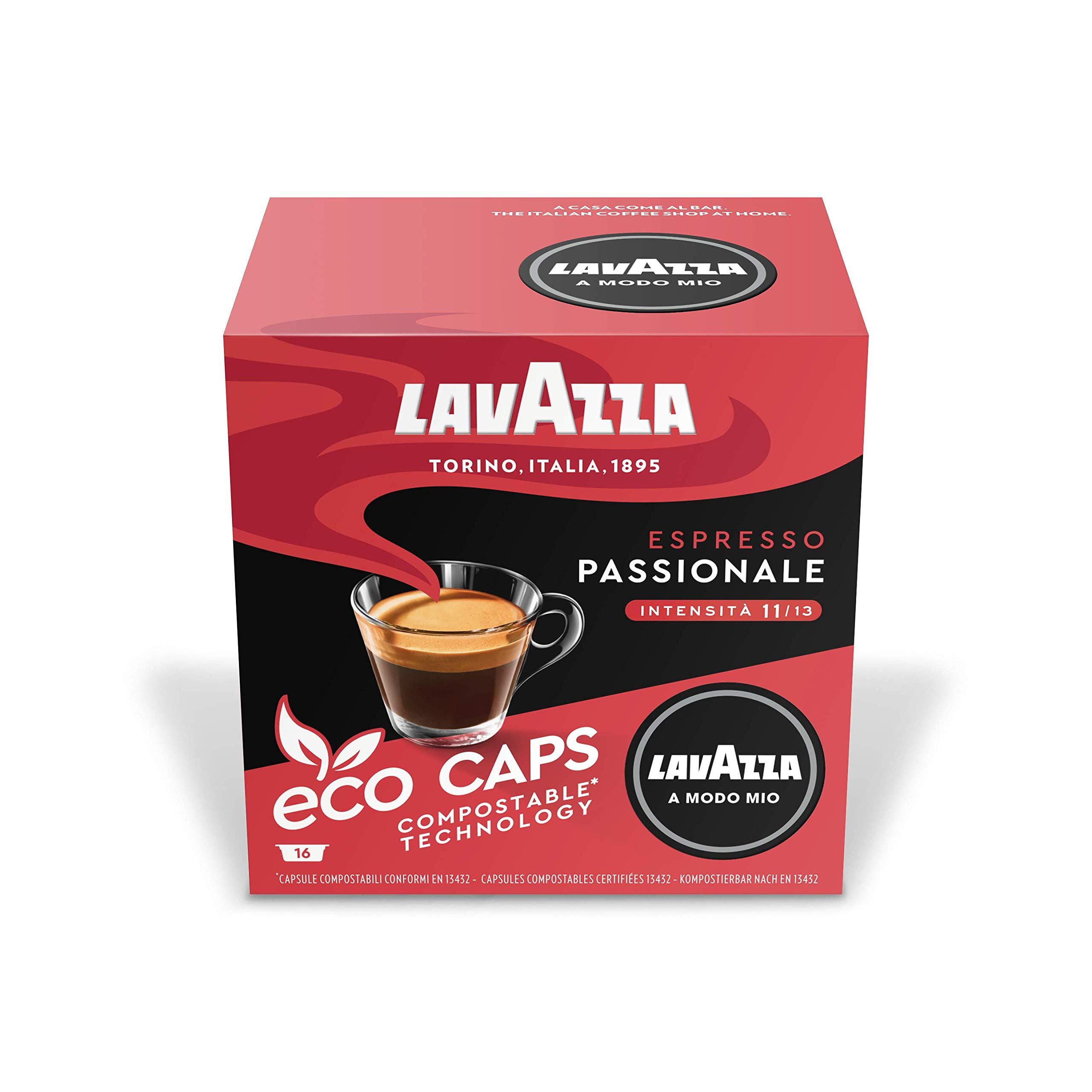 Lavazza A Modo Mio Passionale 16 Coffee Capsules (Pack of 5)