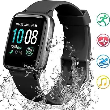 GRDE Reloj Inteligente Mujer Hombre, Smartwatch Bluetooth 5.0 ...