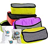 Packing Cubes 5pcs Bago Value Set For Travel - (Green, Red, Purple, 2Yellow)