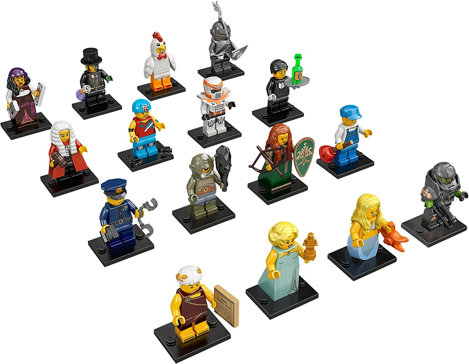 71000 Lego minifigures series 9 complete set of 16 Minifigs