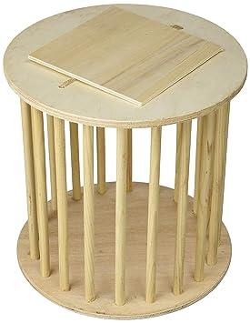 Elmato 12812 Feed dispensador de heno pequeño en forma de tambor con varillas de madera de haya: Amazon.es: Productos para mascotas