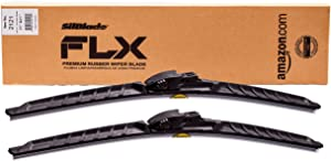 "SilBlade FLX 2121 Premium Beam Wiper Blade Set - 21""/21"" | Fits various models of Alfa Romeo, Aston Martin, Audi, Chevrolet, Dodge, Infiniti, Jaguar, Jeep, Land Rover, Mercedes-Benz, Mitsubishi"