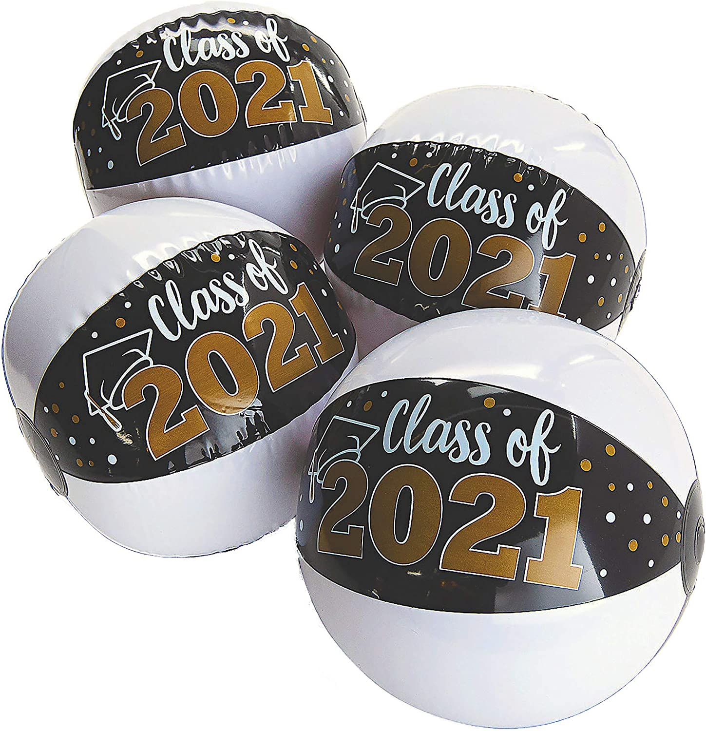 12 Pcs Graduation Beach Balls Class of 2021-11 Graduation Party Supplies Grad Party Favors Gifts for Kids Seniors Teens Adults by 4Es Novelty