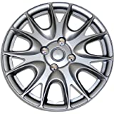 TuningPros WC-17-3533-S 17-Inches-Silver Improved Hubcaps Wheel Skin Cover Set of 4