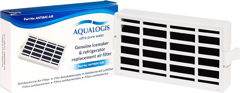 Aqualogis Antibacterial Filtro de aire compatible con Whirlpool Smeg Hotpoint Ariston Microban ANT002 481248048172 HYG01