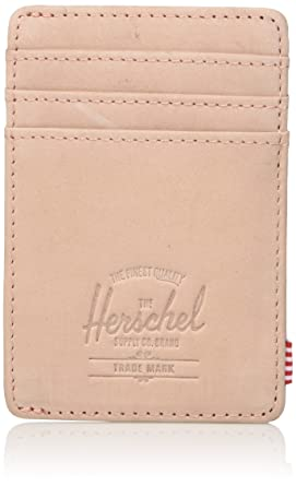 3276ea64802 Image Unavailable. Image not available for. Color  Herschel Supply Co.  Unisex-Adult s Raven Leather RFID Blocking Card Holder ...