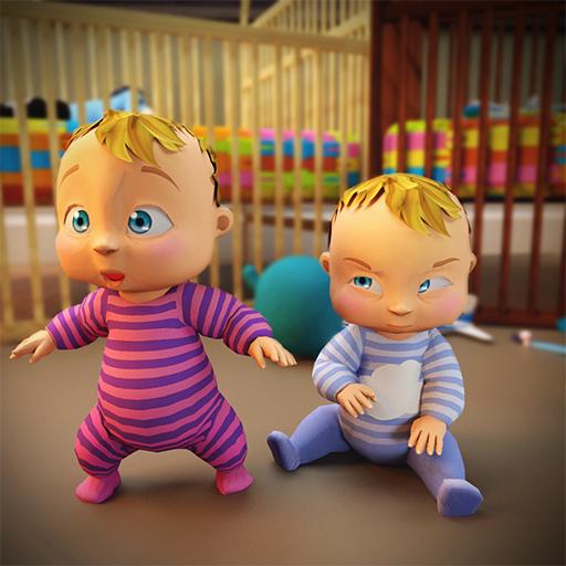 dulce recién nacido gemelo cuidado del bebé: juegos de madre bebé ...