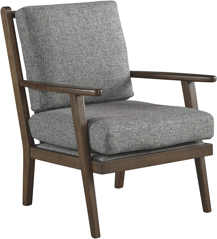Signature Design by Ashley - Zardoni Mid-Century Modern Accent Chair, Gray/Brown