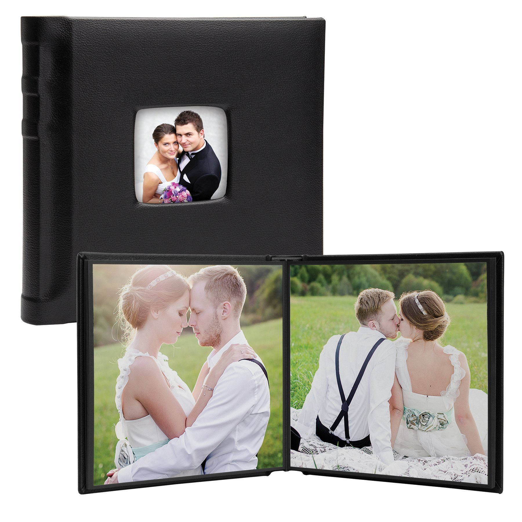 8'' x 8'' Square Self-Stick Albums with Cameo Cover (#6888) - Case of 12 by Neil Enterprises, Inc