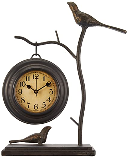 Imax 16159 Bird And Branch With Hanging Clock U2013 Handcrafted Wall Clock,  Decorative Clock,