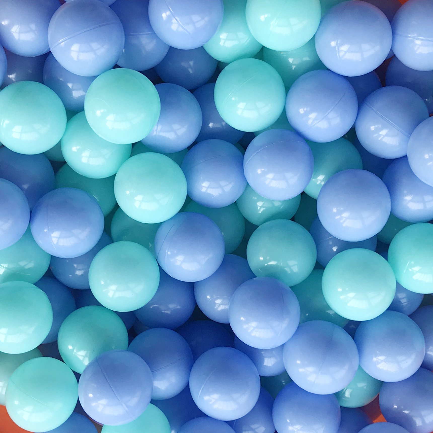 Thense Pit Balls Crush Proof Plastic Children's Toy Balls Macaron Ocean Balls Big Size 2.15 Inch Phthalate & BPA Free Pack of 800 Blue&Green
