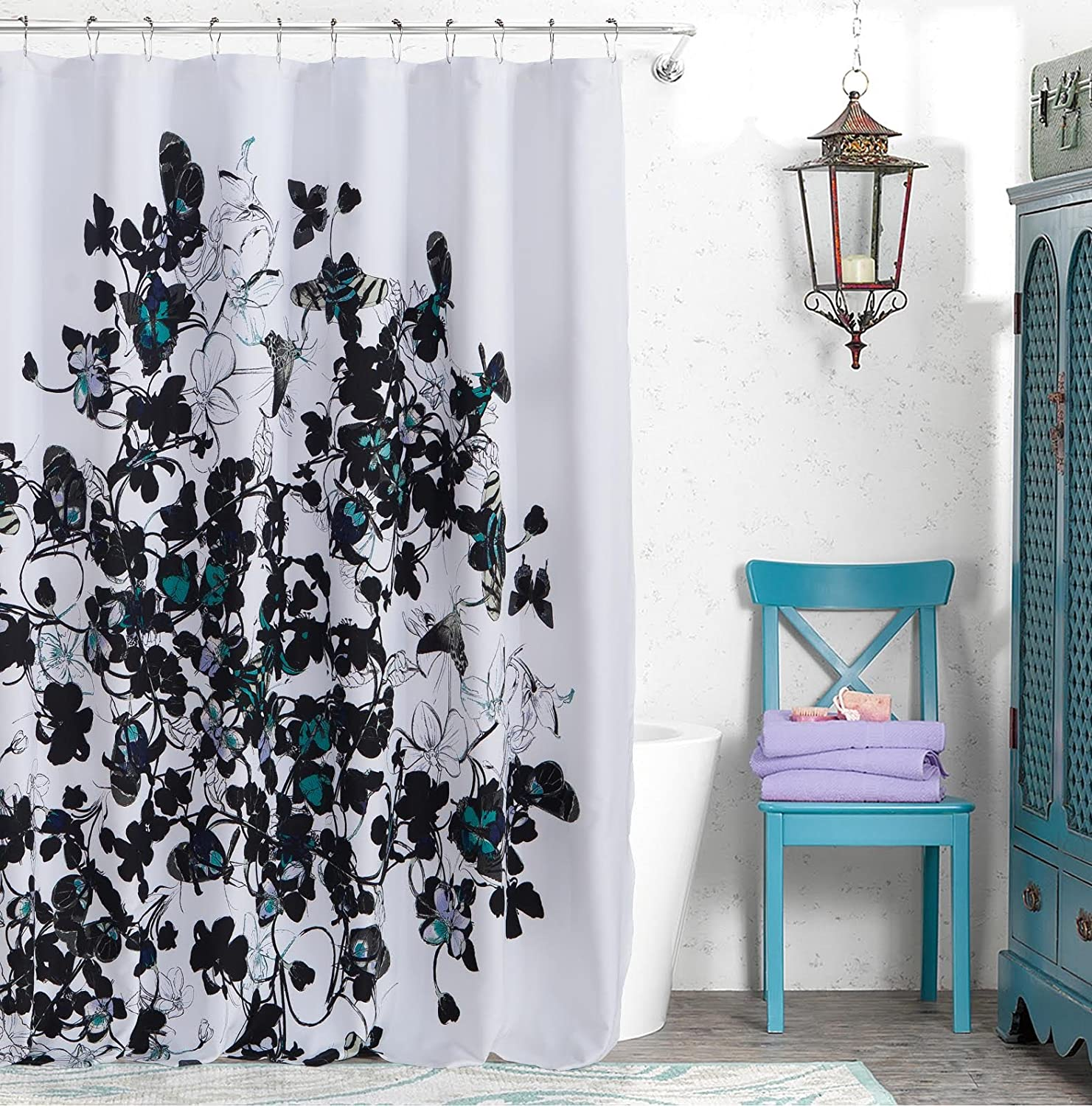 Amazon Kensie Ingrid Cotton Shower Curtain Home Kitchen