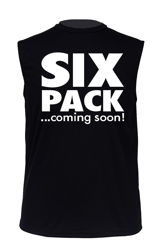 9576ce716 Men's Dri Fit Hilarious Six Pack.Coming Soon! Short Sleeve Sleeveles Shirt  at Amazon Men's Clothing store: