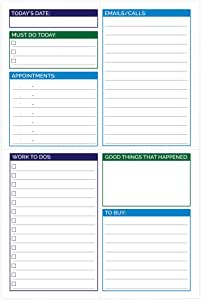 """bloom daily planners Pocket Pad - Gender Neutral Double Sided Tear Off Daily Planning Pad - 6"""" x 9"""""""