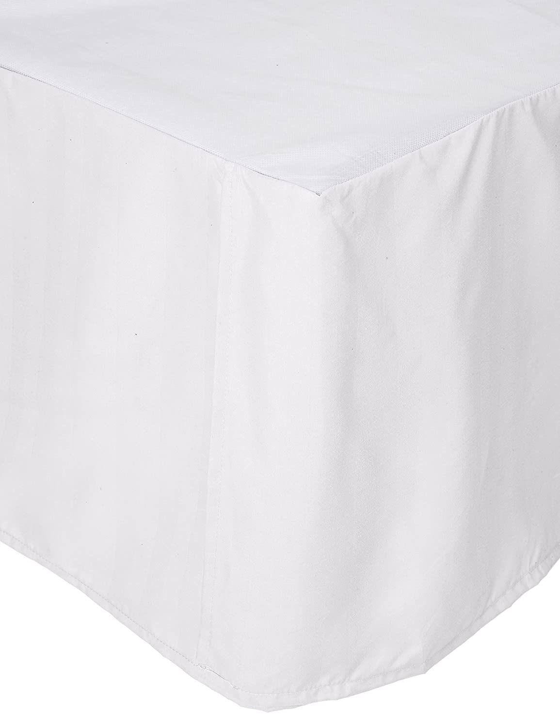 Elegant Comfort Luxury Wrinkle Resistant -Wrap Around Style- Elastic Bed Wrap Ruffled Bed Skirt 16inch Drop, Twin/Full, White