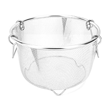 Instant Perrrt! | Premium Steamer Basket | Perfectly Prepares Vegetables, Eggs, Meats & More | Instant Pot Pressure Cooker Accessory | Stainless Steel & Dishwasher Safe | 6 Quart