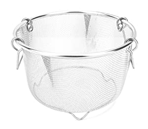InstaPot 6 Qt Steamer Basket or Pot - Vegetables, rice, meats, etc - Stainless Steel Built to fit Insta Pots Perfectly Pots & Pans at amazon