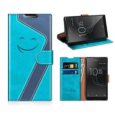 MOBESV Smiley Funda Cartera Sony Xperia L1 Magnético, Funda ...
