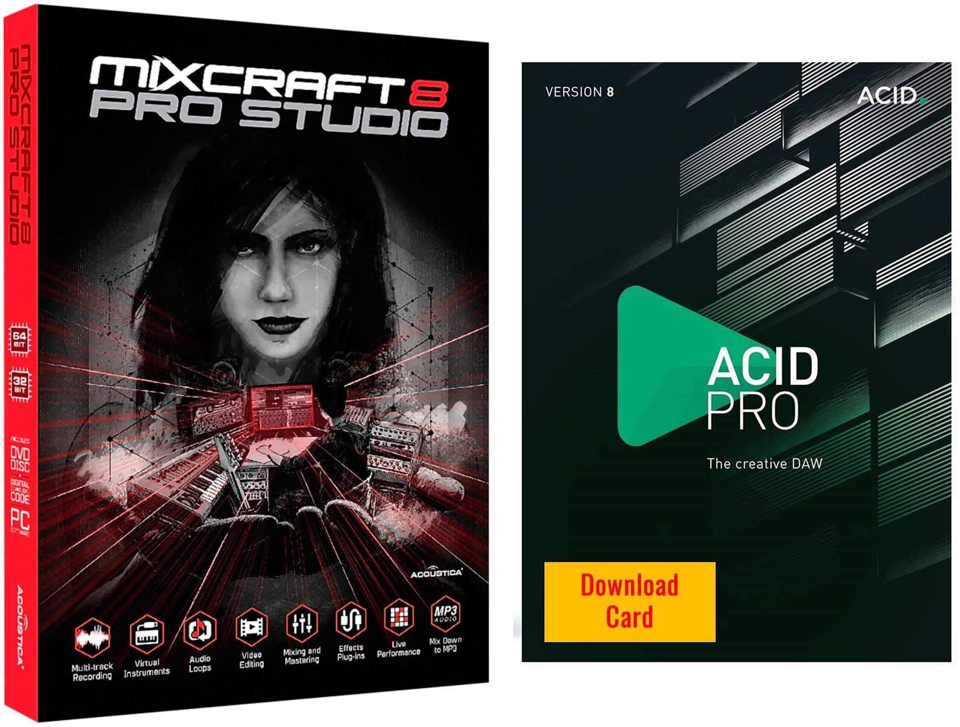 Acoustica Mixcraft 8 Pro Studio for Windows & Magix Acid Pro 8 for Windows Bundle by Acoustica