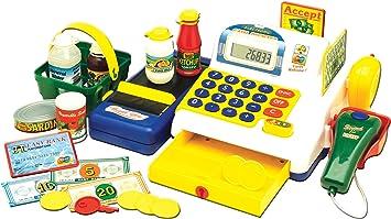 Powco Toys 46160 - Caja registradora electrónica de juguete con accesorios [importado de Inglaterra]: Amazon.es: Juguetes y juegos