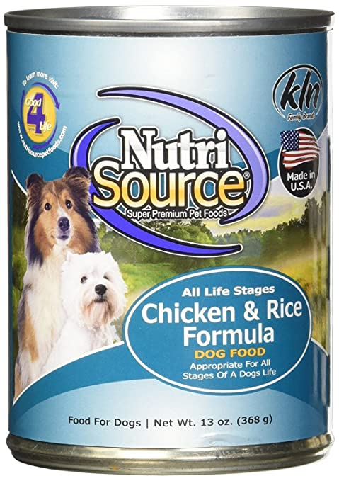 Nutri Source Chicken Rice 12x13 Oz Canned Wet Pet Food Pet
