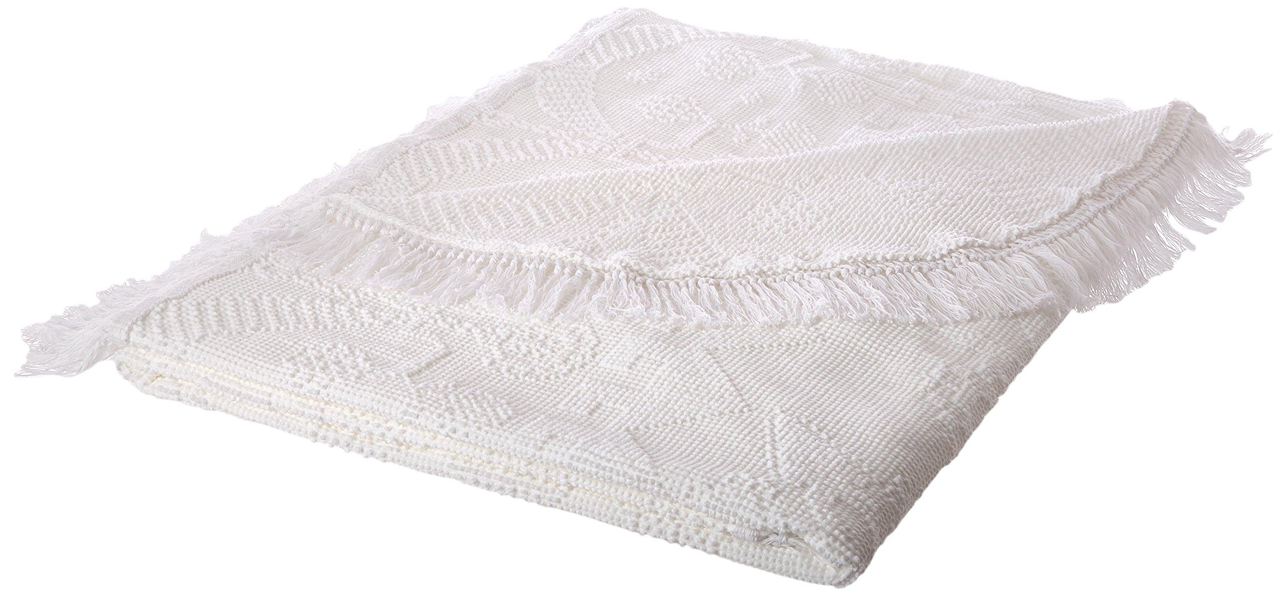 Martha Washington's Choice Bedspread - King - White - with String Fringe