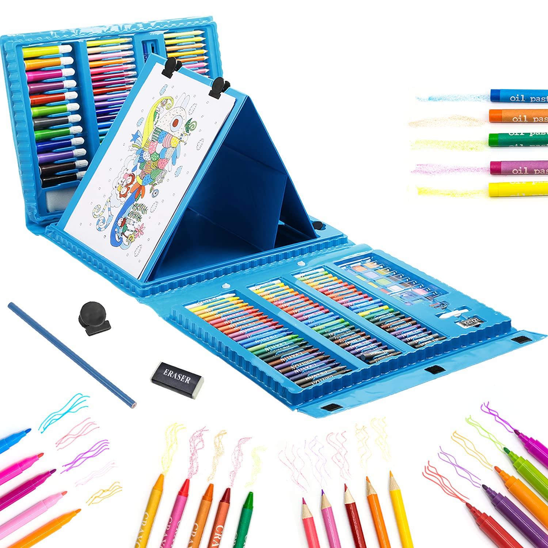 208 Pieces Art Supplies Kids Art Set Drawing Kit Coloring Case Kit