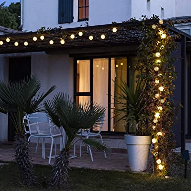 Guirnalda Bolas luminosa LED para exteriores - Impermeable IP65 ...